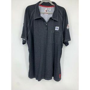 Bulwark FR IQ series work shirts mens XXL set of 2